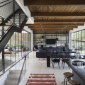 Modern House in Israel with a Dramatic Yet Warm Atmosphere