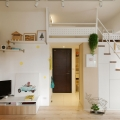 Redesigned Tiny Apartment with Loft Features a Brighter Open Space