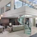 Elegant Contemporary Mayfair Penthouse with Sleek Glass Spiral Staircase