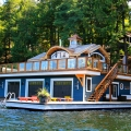 Muskoka Lakeside Cottage Boathouse