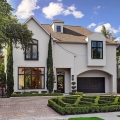 Spanish Contemporary Luxury Custom Home with Elegant Curb Appeal