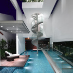 Sleek Modern Home In Singapore With Glass Bridge Over Pool