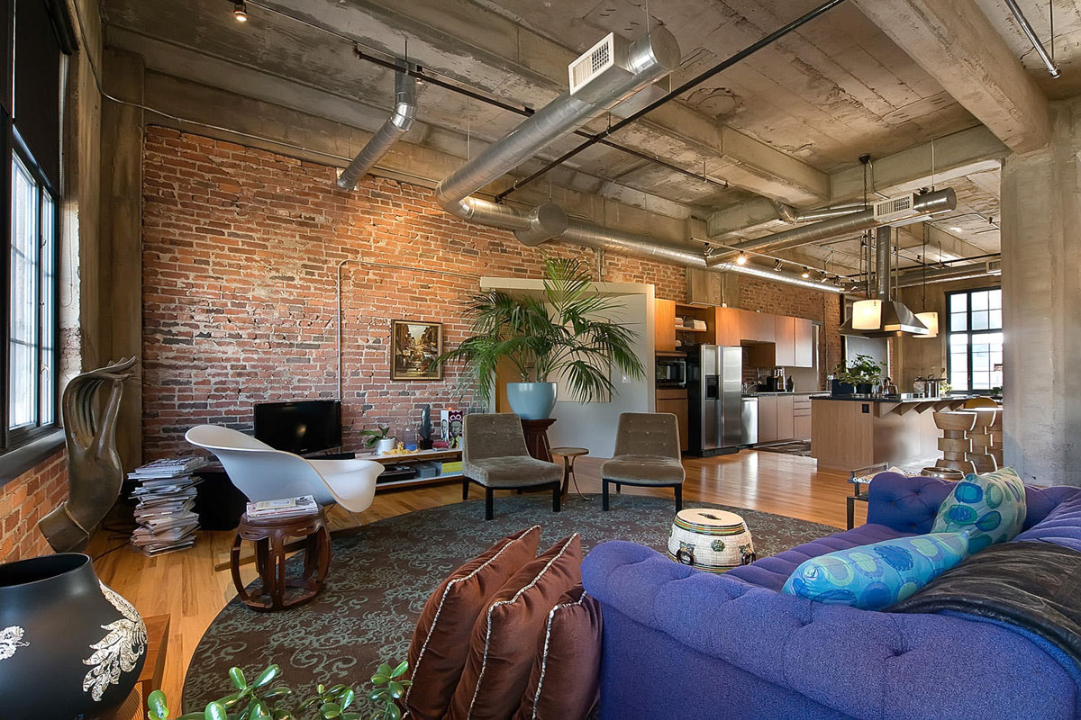Stylish flour mill loft in denver idesignarch interior design architecture interior for Loft apartment interior design