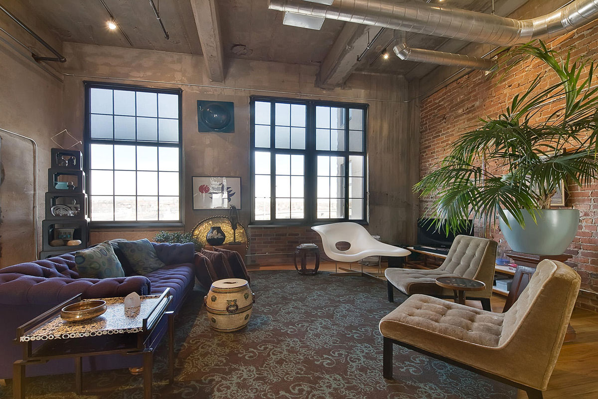 Stylish flour mill loft in denver idesignarch interior - Casa tipo loft ...