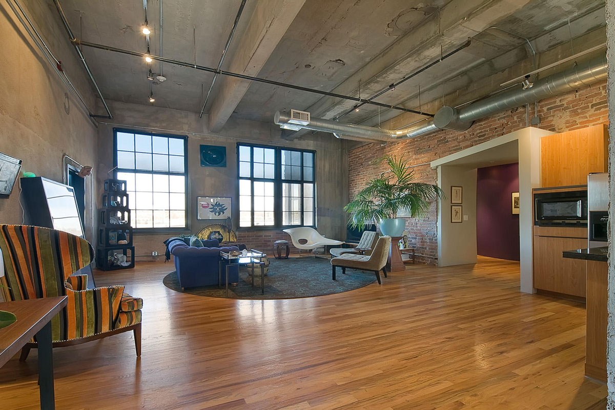 Stylish flour mill loft in denver idesignarch interior for Loft in house