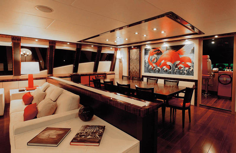 Luxury yacht dragon interiors idesignarch interior for Yacht interior design decoration