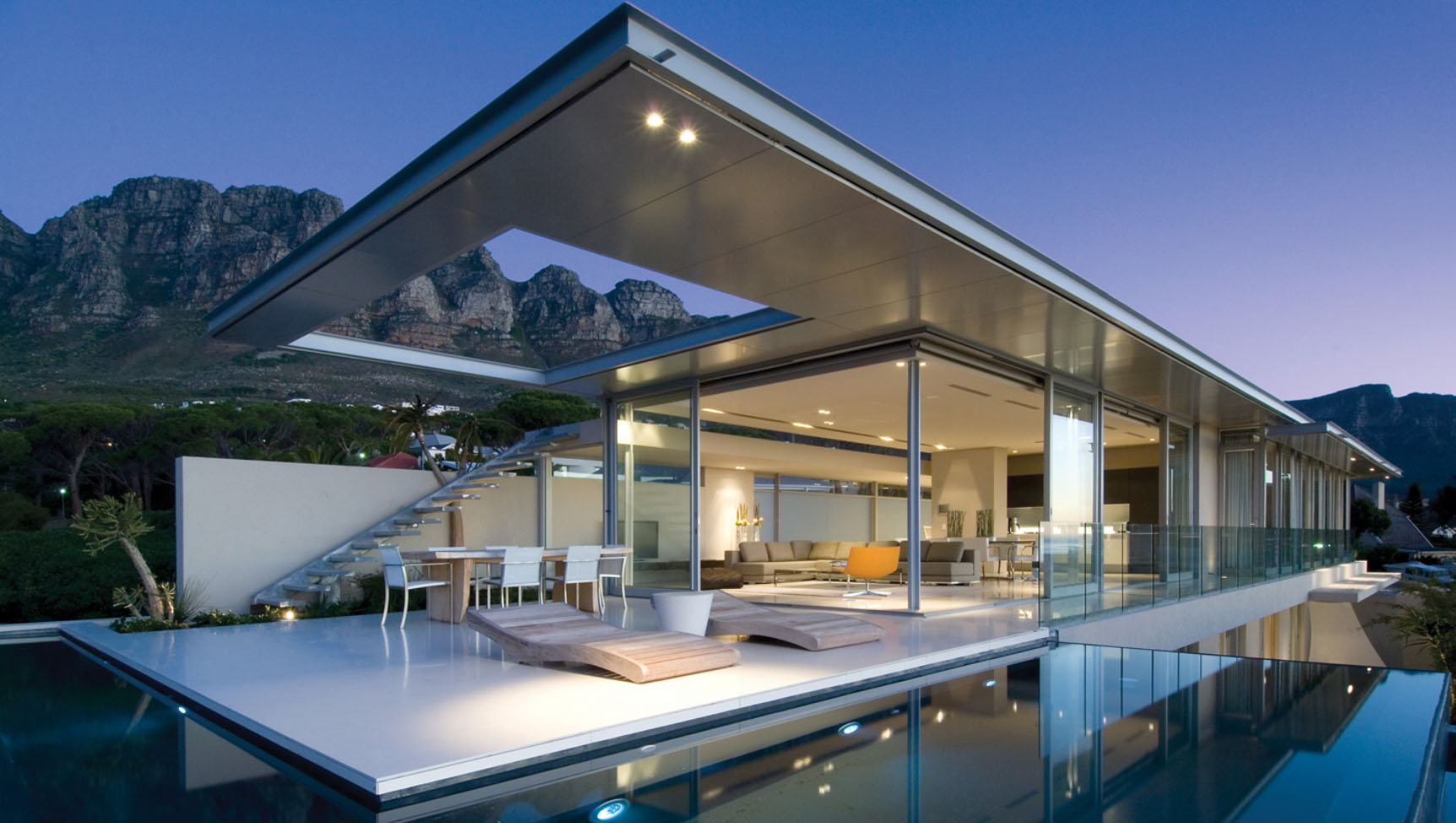 Minimalist ocean view home in south africa idesignarch for House plans for homes with a view