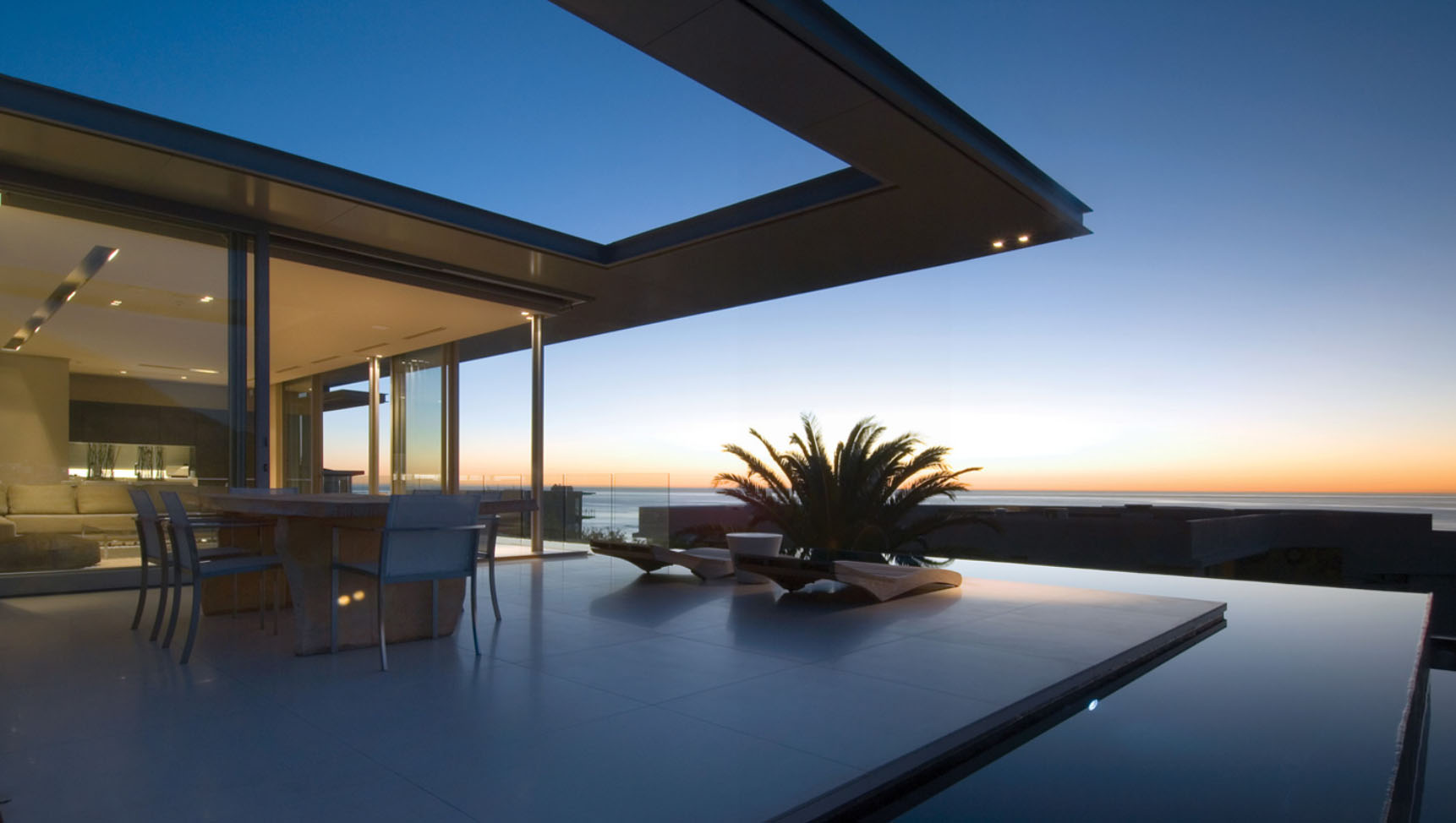 Minimalist ocean view home in south africa idesignarch for Modern beautiful house