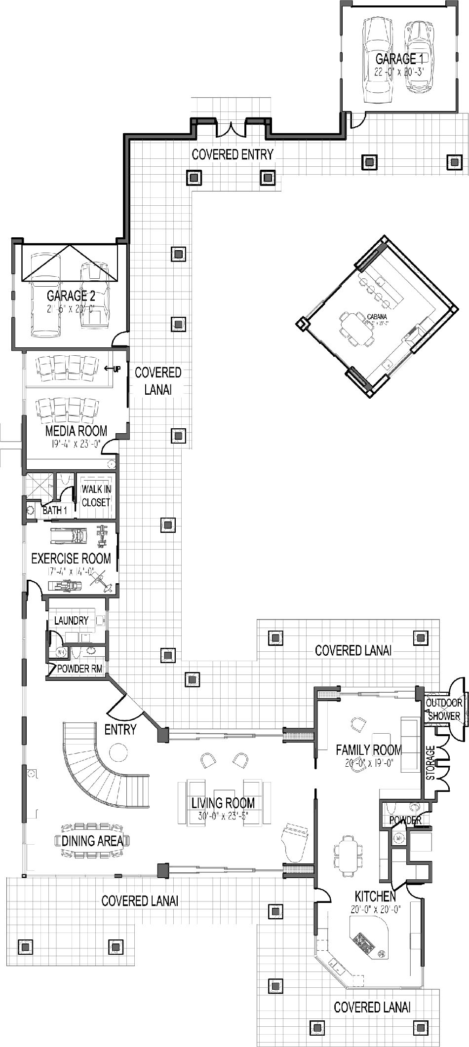 210 North Kalaheo Floorplan