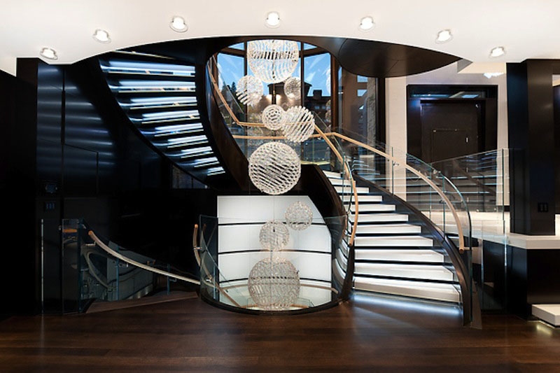 Contemporary Spiral Staircase