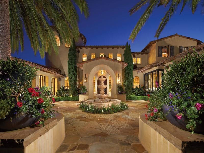Mediterranean style estate in shady canyon idesignarch for Mediterranean style homes interior