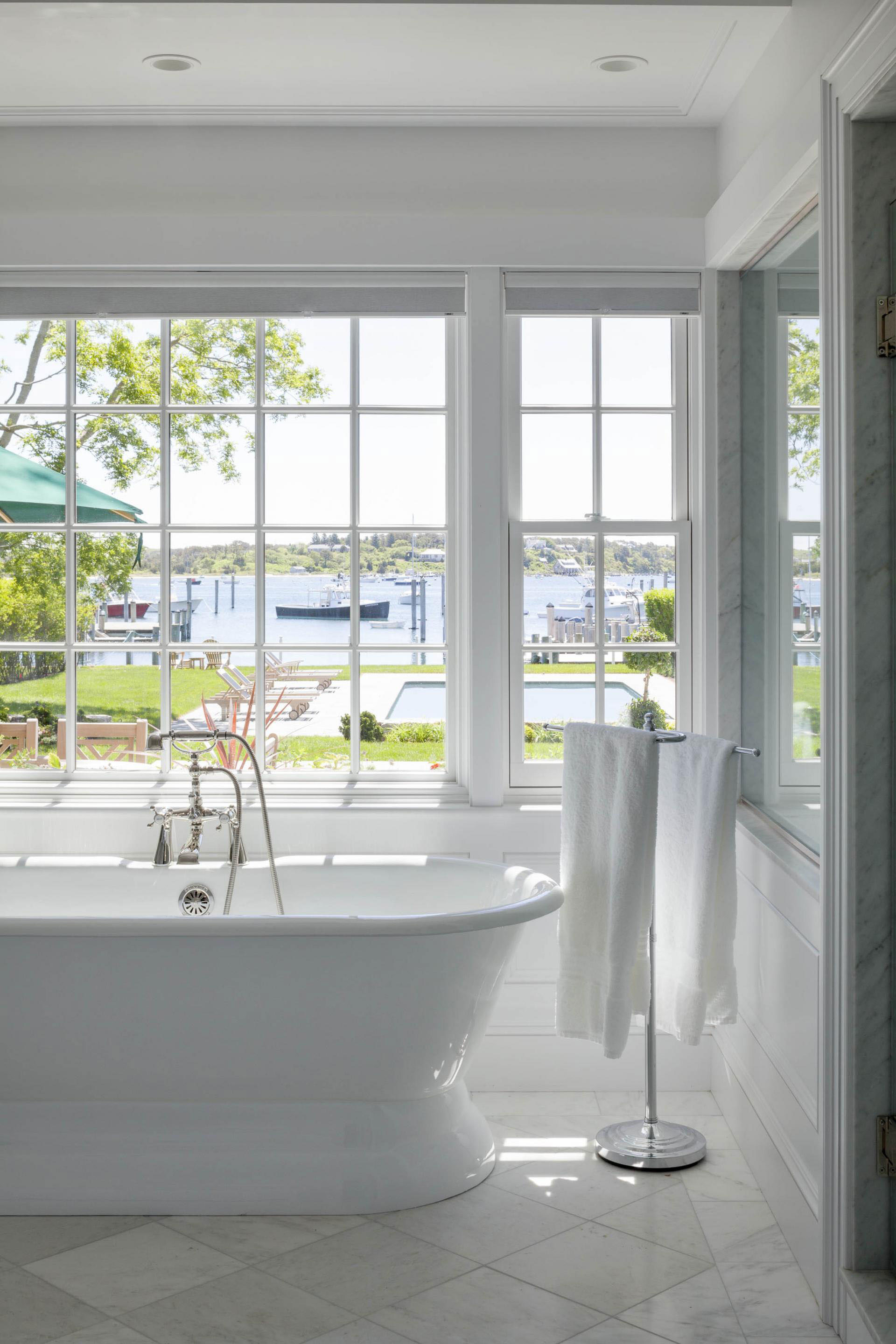 Luxury Bathroom with Water View