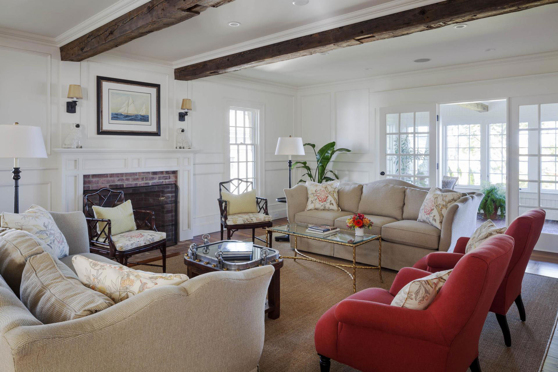 family home with new england colonial architecture on martha u0027s