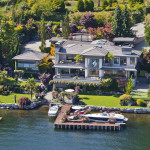 Sophisticated Waterfront Estate In Medina With Private Dock