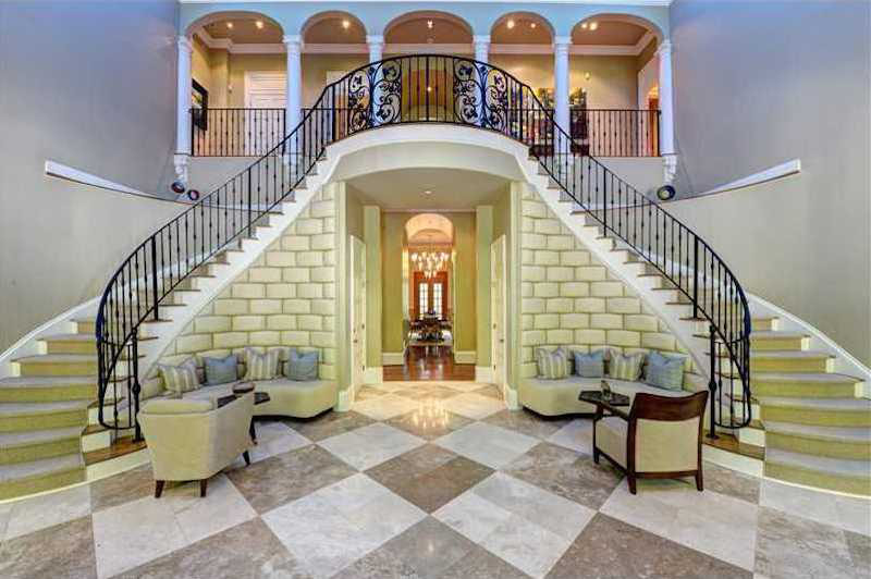 Stunning gated estate in atlanta with grand staircase Modern houses in atlanta