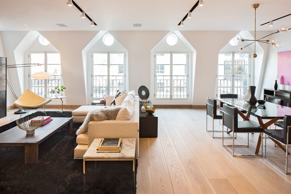 Renovated Tribeca Penthouse Open Plan Design IDesignArch