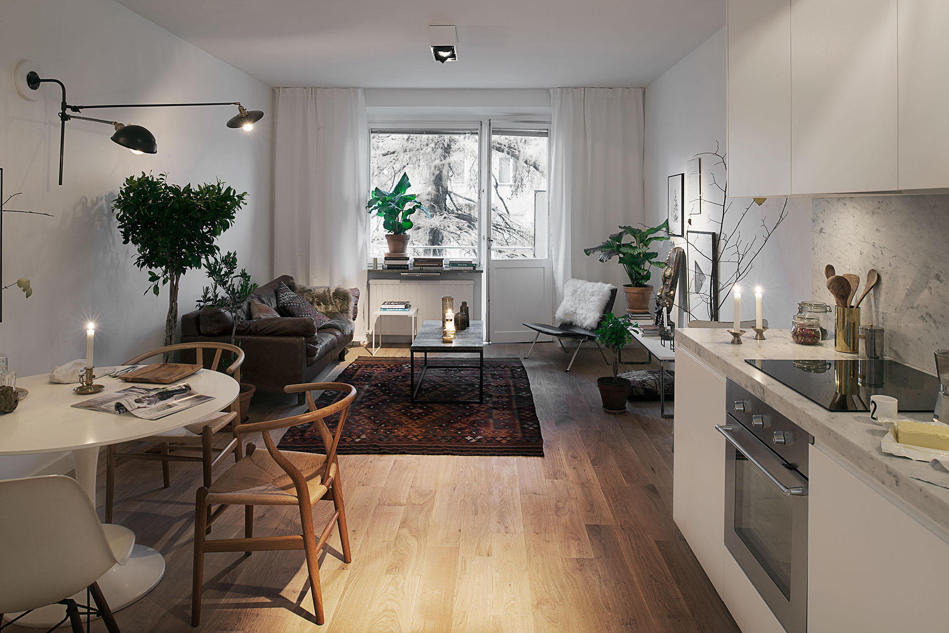 Stylish 420 square foot small apartment with modern scandinavian design idesignarch interior for Arredare casa di 40 mq