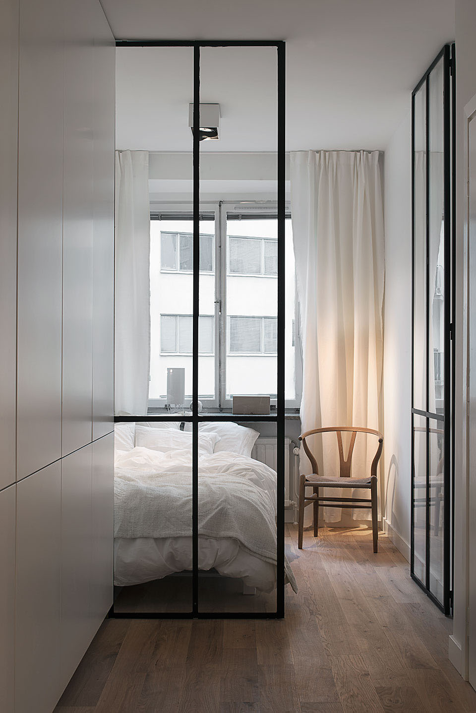 Bedroom with Glass Wall and Glass Door