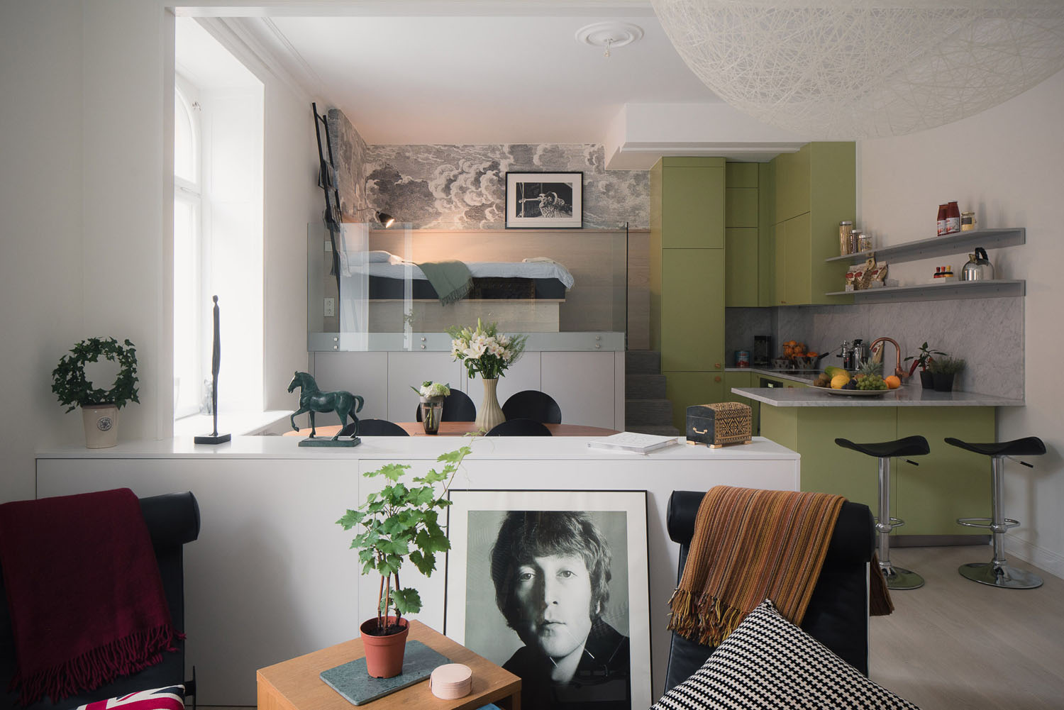 Small Studio Apartment In Stockholm With Sleeping Loft IDesignArch