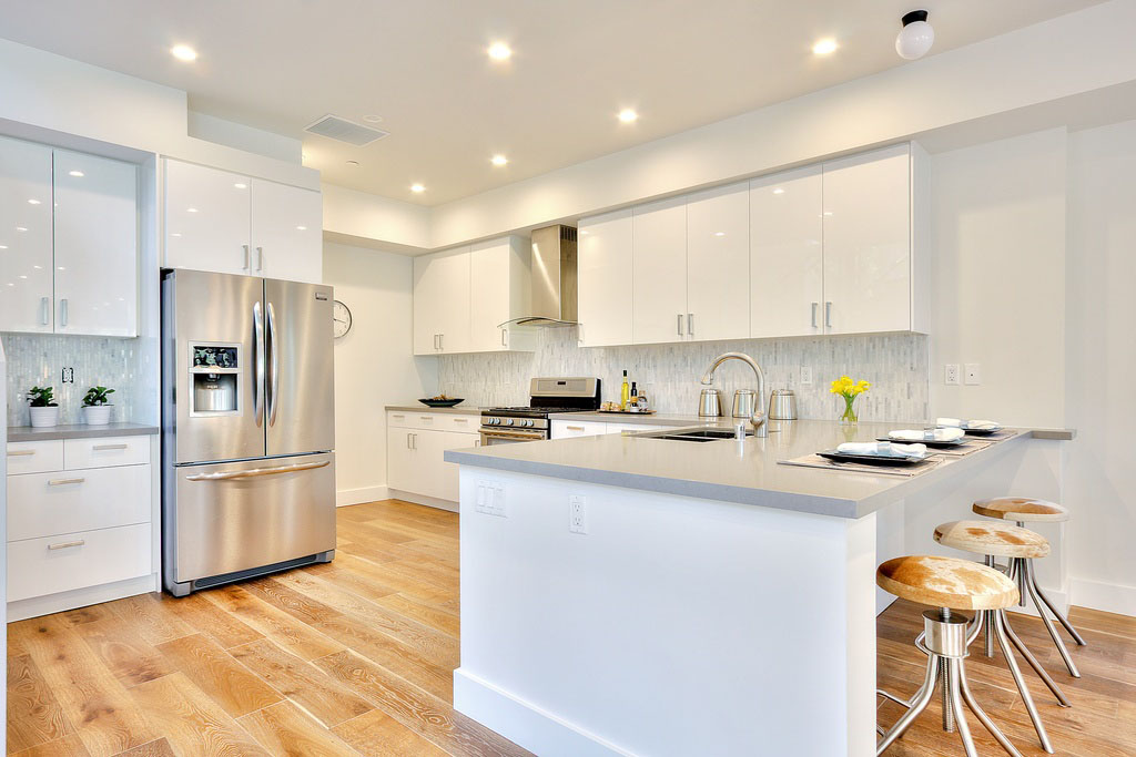 Brand New Contemporary White Kitchen