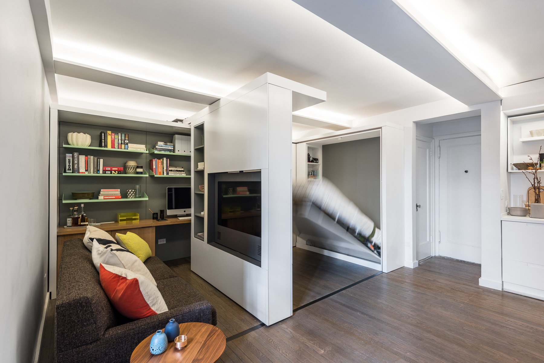 390 Square Foot Micro Apartment With Multifunctional