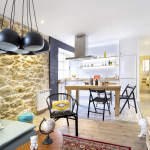 Charming Small Apartment With Stone Walls And Bright Modern Decor