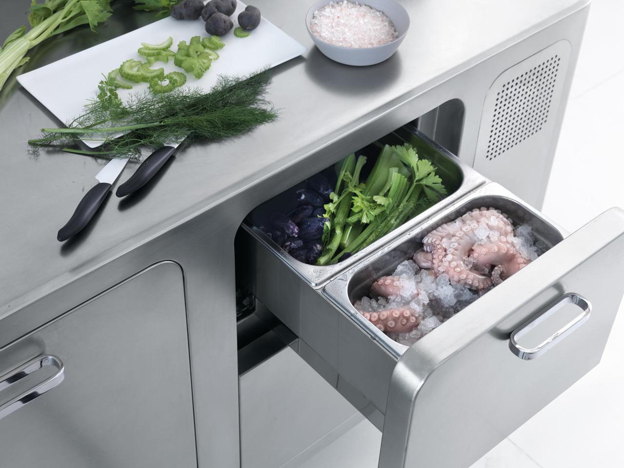 Italian Designed Ergonomic And Hygienic Stainless Steel Kitchen Idesignarch Interior Design
