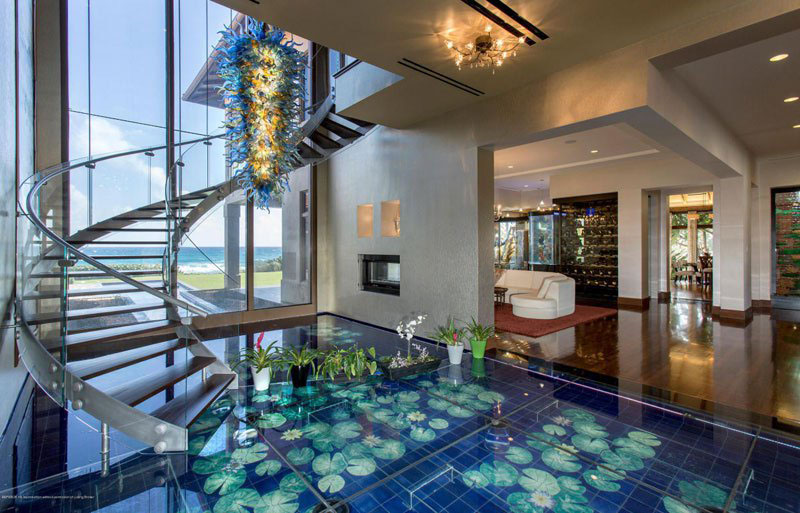 Exotic mansion in florida with soothing water theme idesignarch interior design - Luxurious interior design with modern glass and modular metallic theme ...