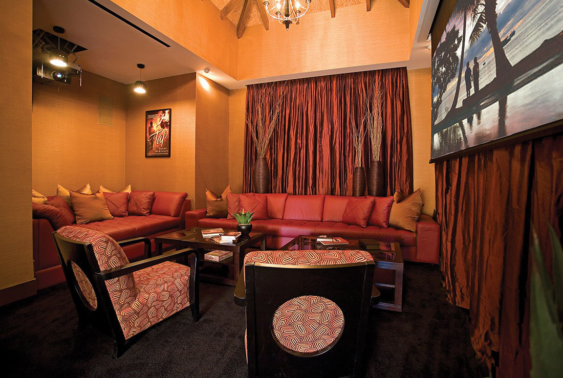 Hollywood-Style Home Movie Theater