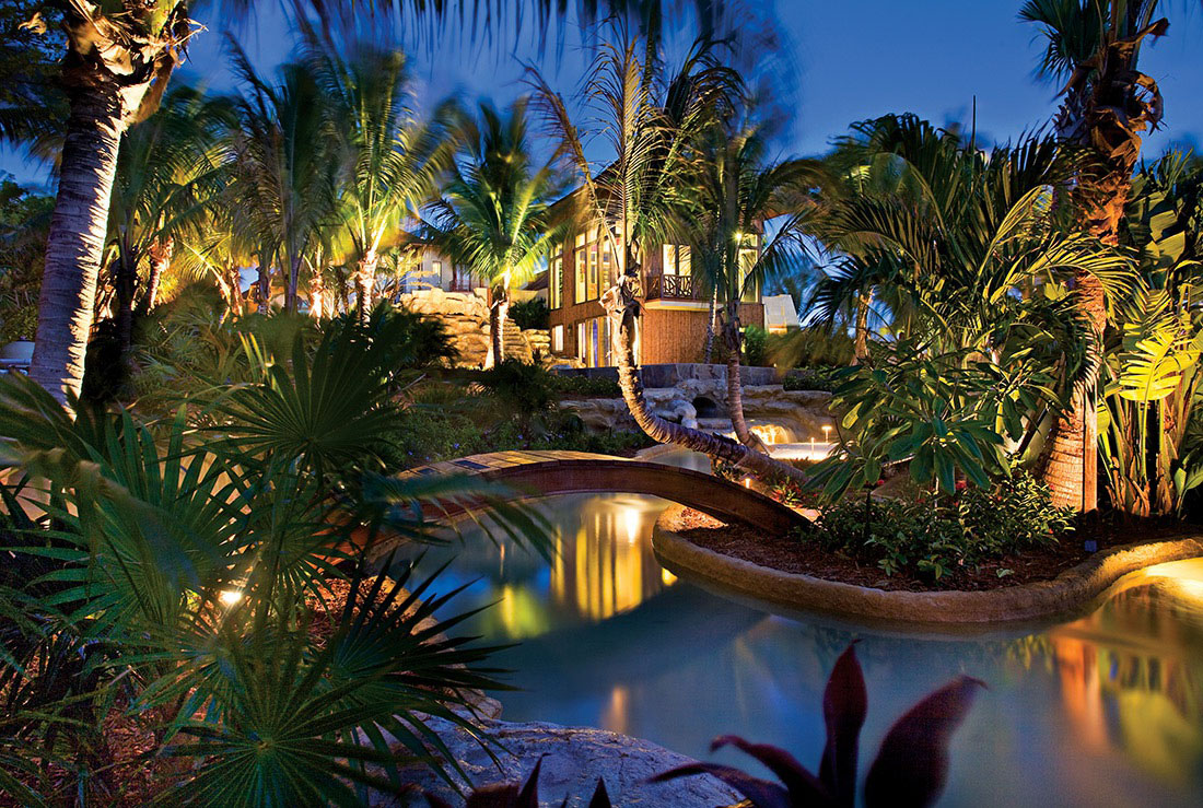Tropical Garden at Night