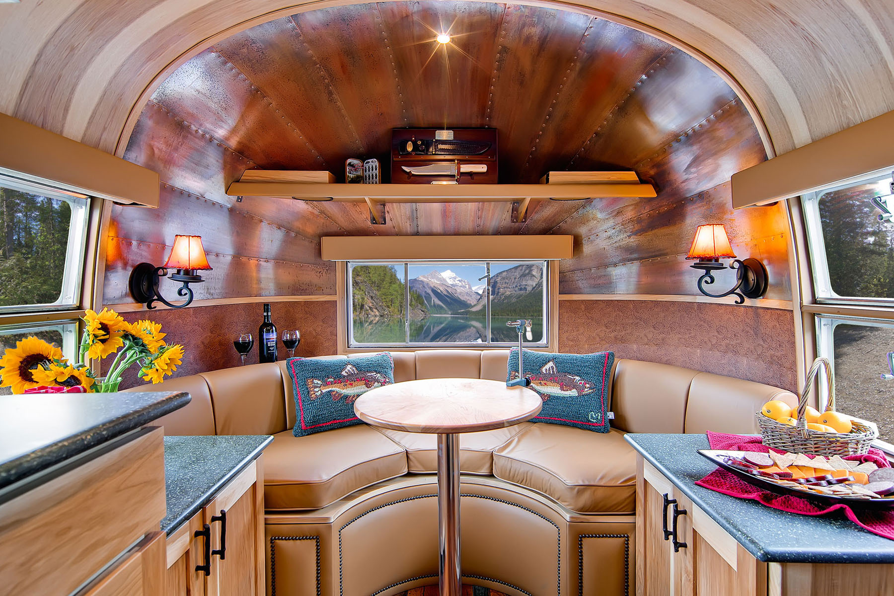 Airstream flying cloud mobile home idesignarch Travel trailer decorating ideas