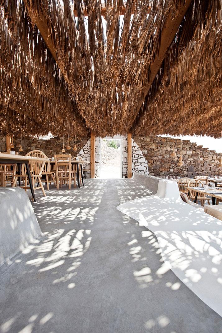 Alemagou restaurant in mykonos idesignarch interior for Beach bar design