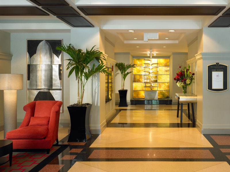 Elegant art deco design of the allerton hotel chicago for A for art design hotel