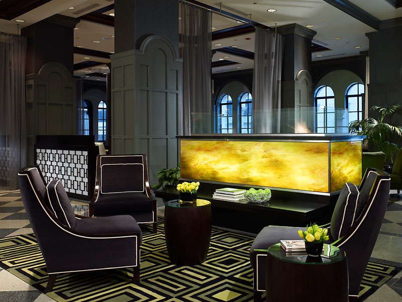 Elegant art deco design of the allerton hotel chicago for Art deco interior design elements