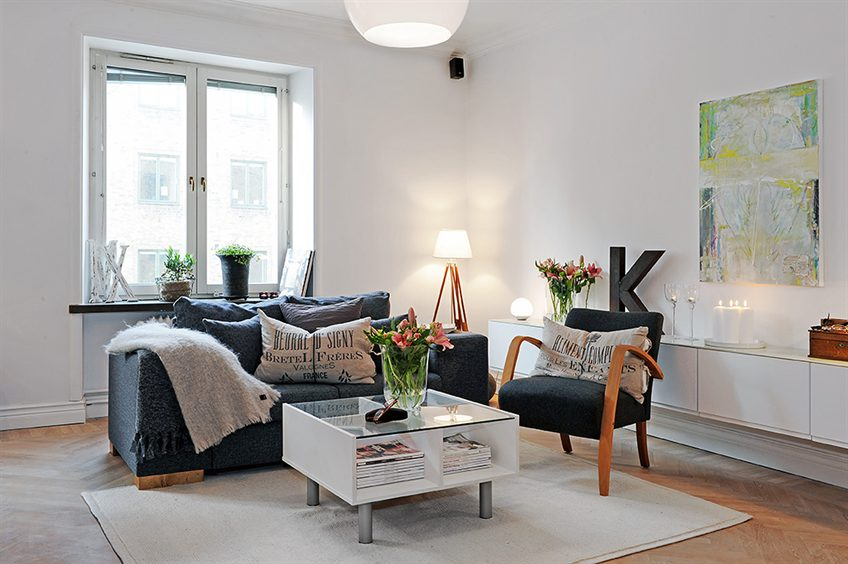 small yet tastefully decorated apartment in sweden