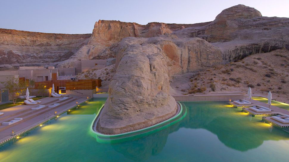 Amangiri resort dramatic escape in utah idesignarch for Pool design utah