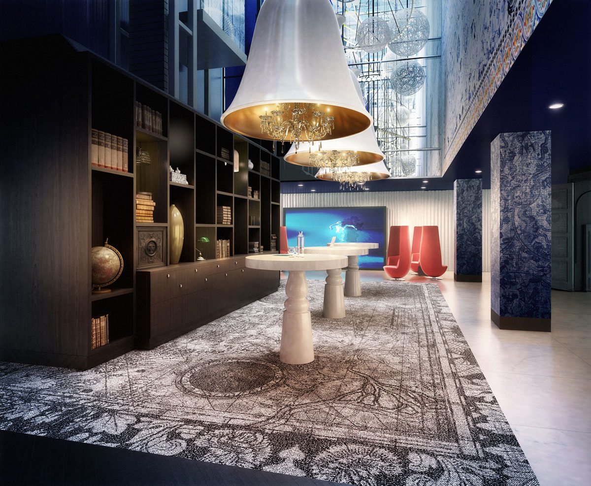 The whimsical interiors of andaz amsterdam prinsengracht for Design amsterdam hotel