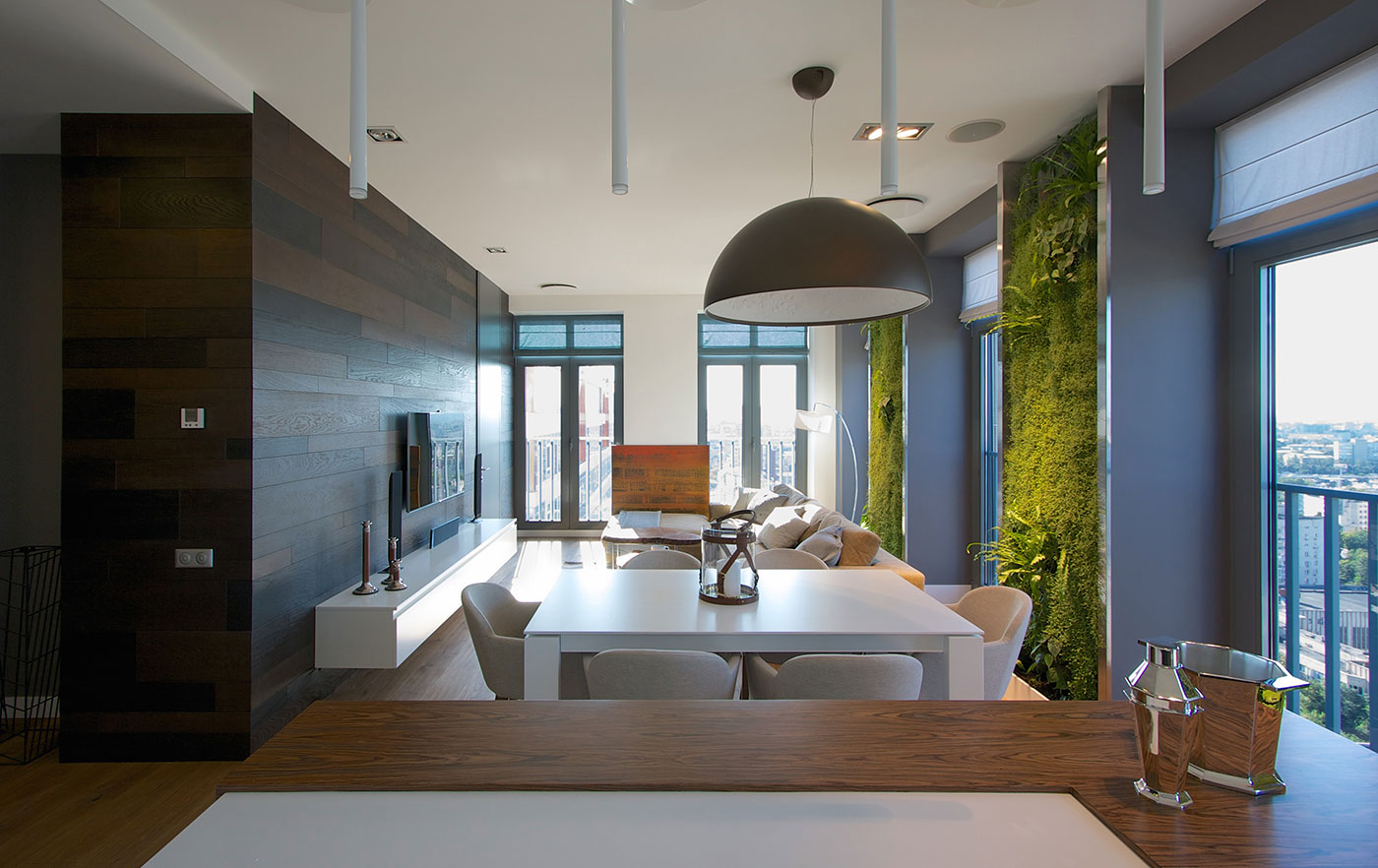 apartment inside. Modern Apartment  Vertical Gardening Creates An Oasis Inside Contemporary