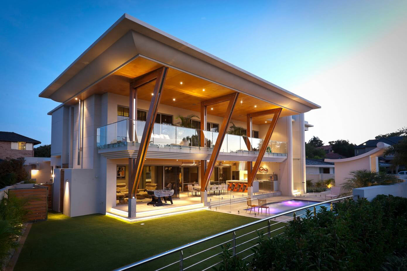 Ultra modern home in perth with large roof idesignarch for Large modern house plans