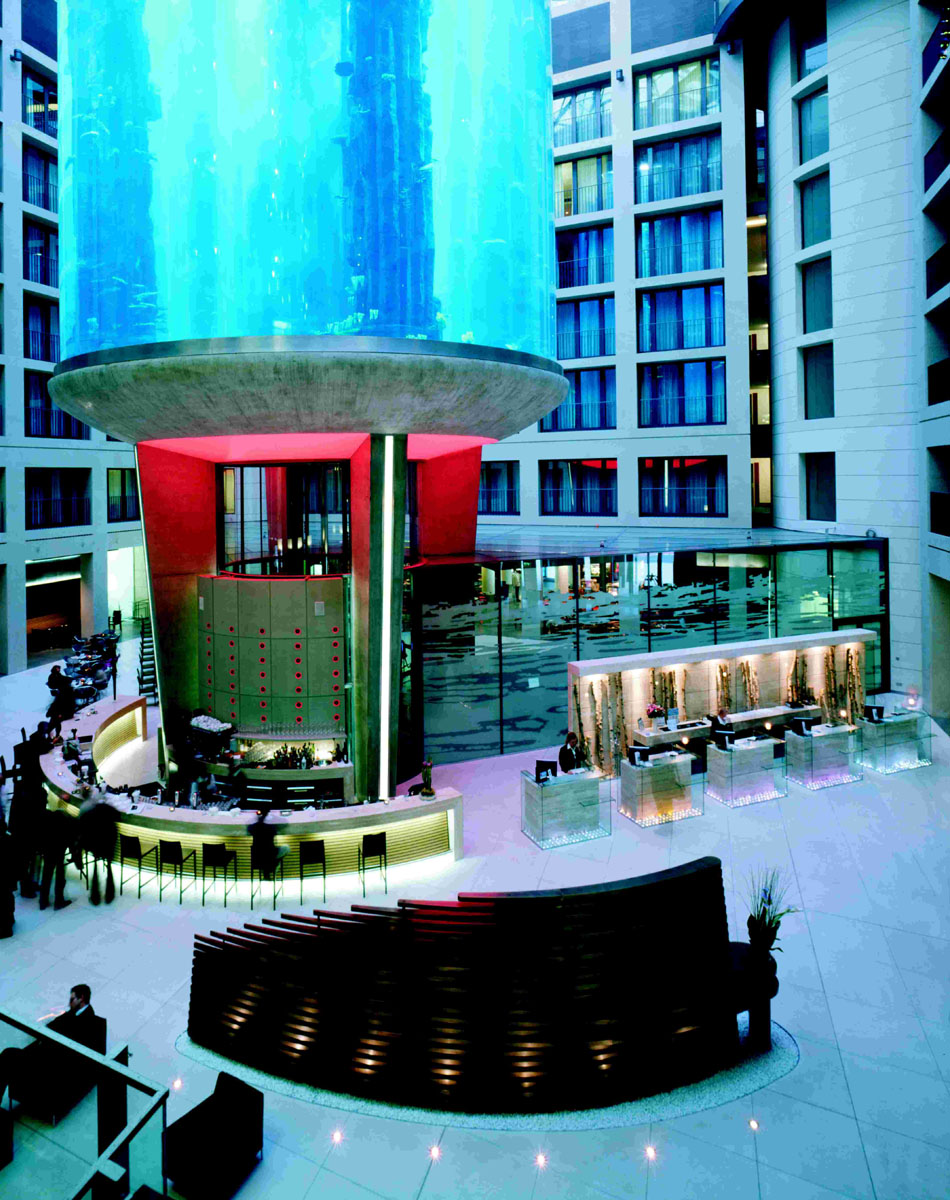 Aquadom At Radisson Blu Hotel Berlin Mitte Idesignarch