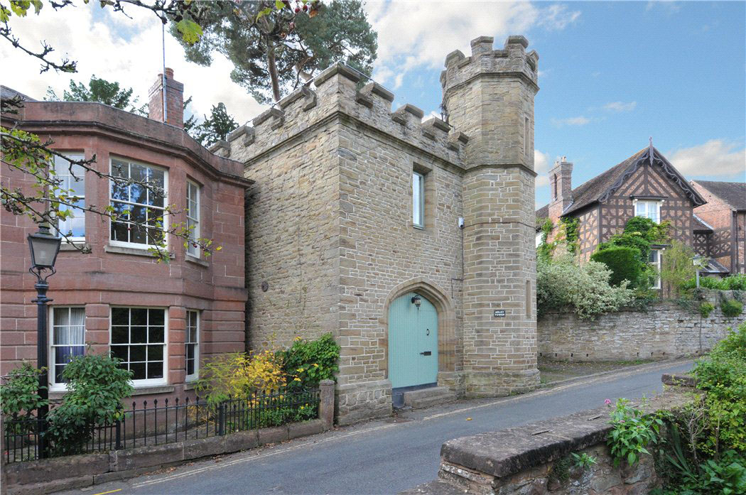 Gothic revival style castle tower converted to charming for Castle style homes