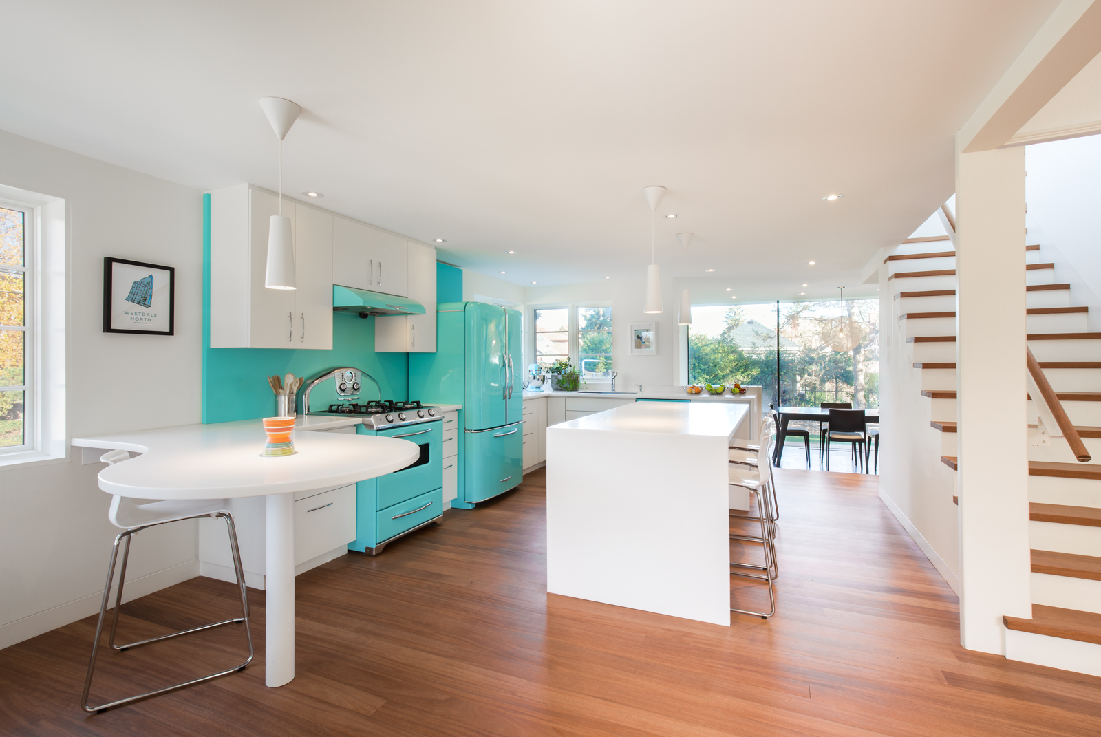 Retro Turquoise Kitchen Design
