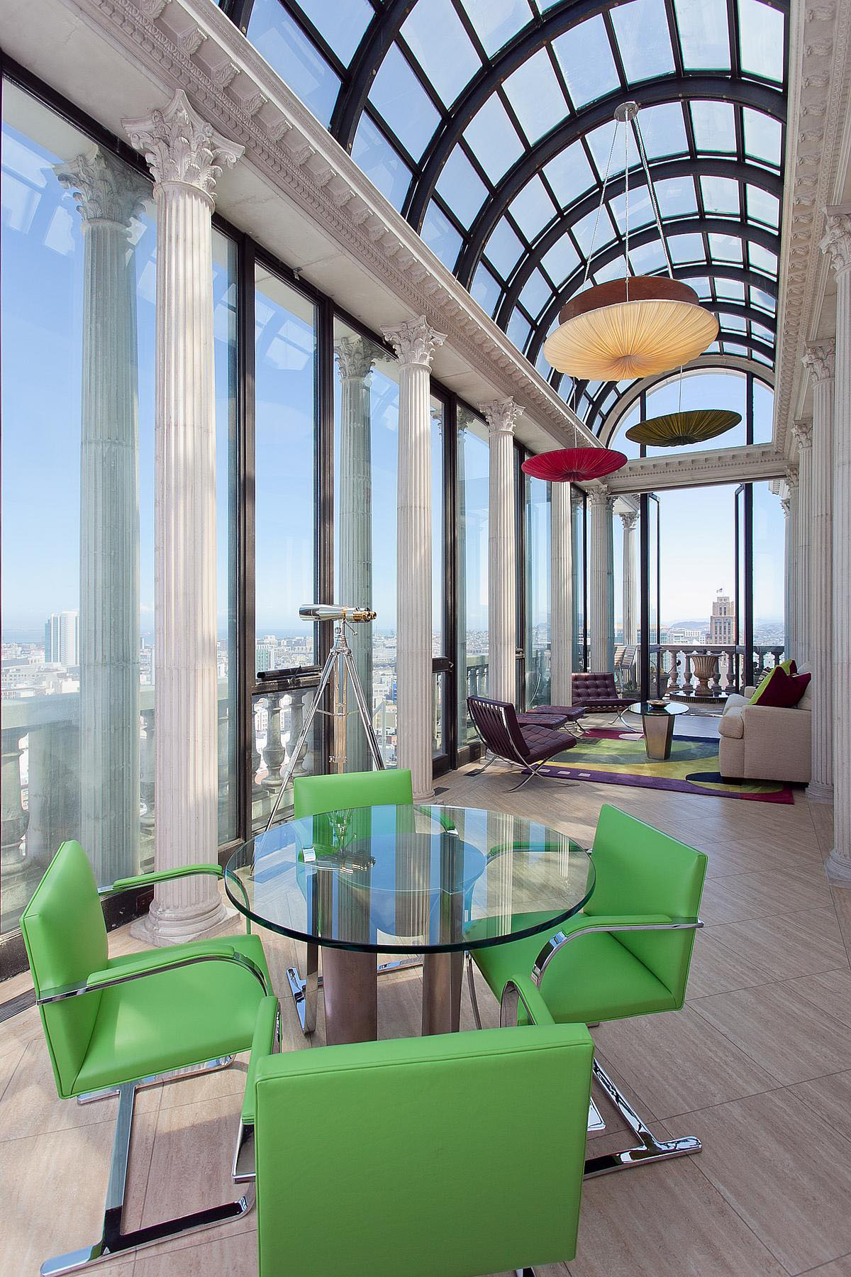 Exquisite penthouse atop the art deco hamilton building in san francisco idesignarch - Home decor san francisco image ...