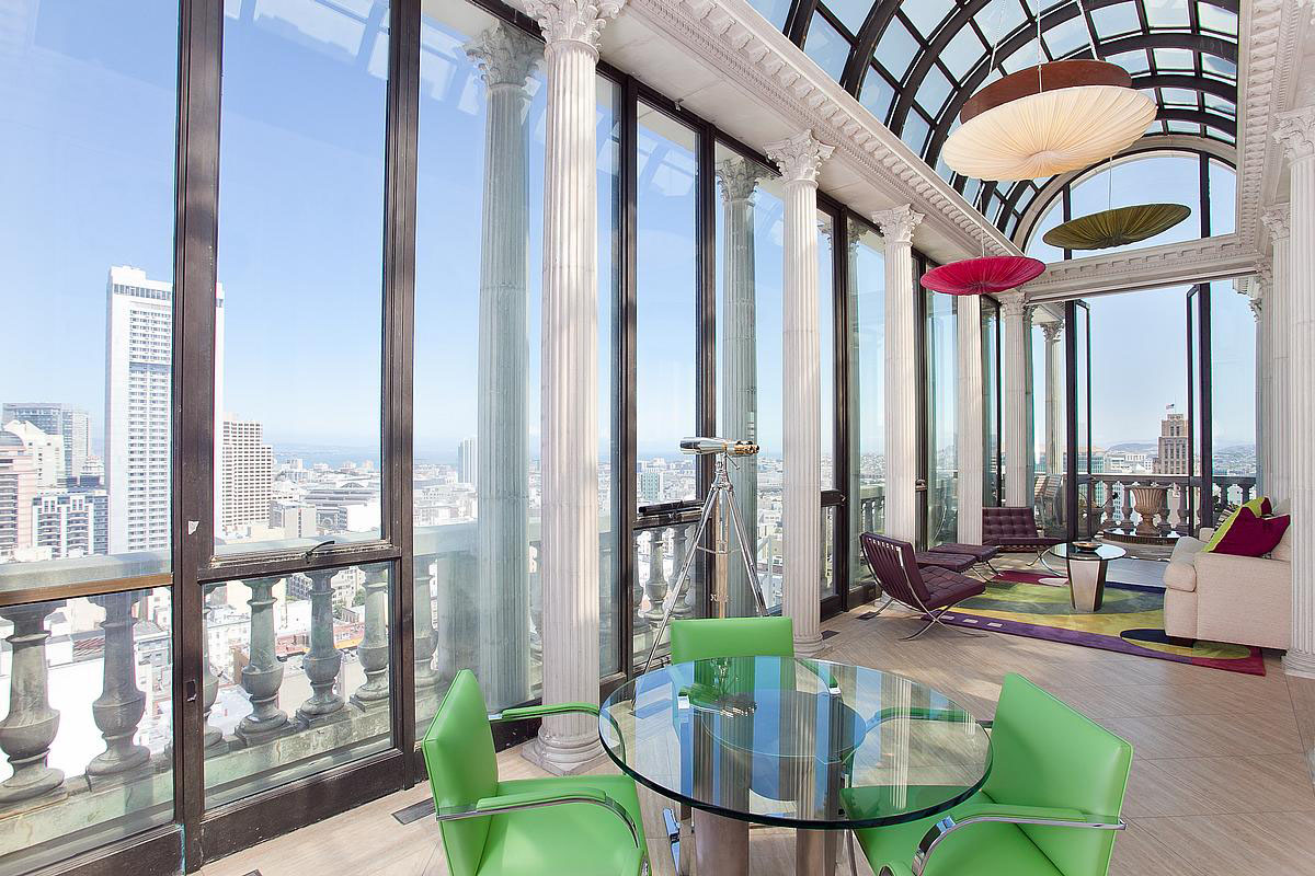 Exquisite penthouse atop the art deco hamilton building in Deco san francisco