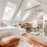Unique Attic Duplex Apartment With Glass Walls And Glass Flooring