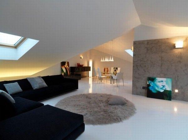 Attic Apartment Design In Italy Idesignarch Interior