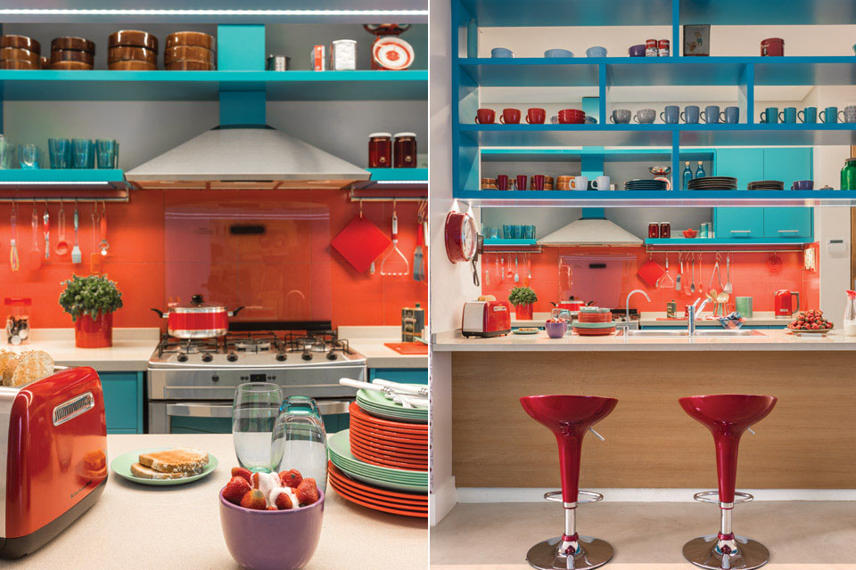 Red And Orange Kitchen Ideas Part - 28: Red Orange Kitchen Colors Intended Design