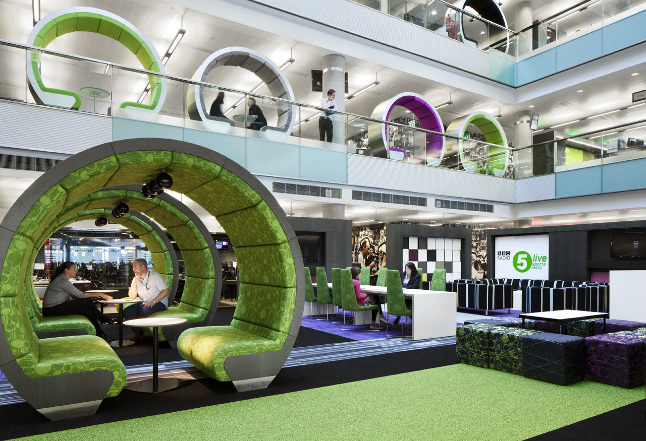 Bbc north creative interior spaces idesignarch for Office working area design