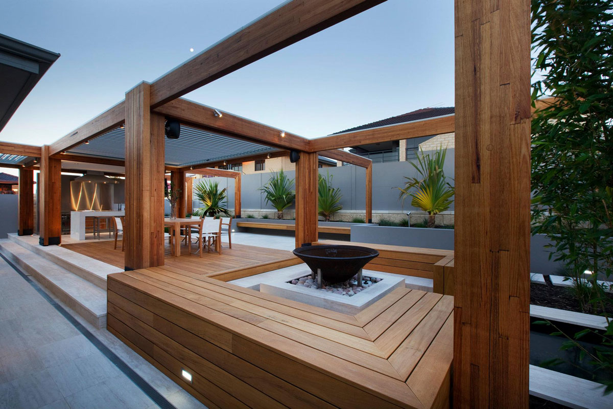 Teak Patio Deck