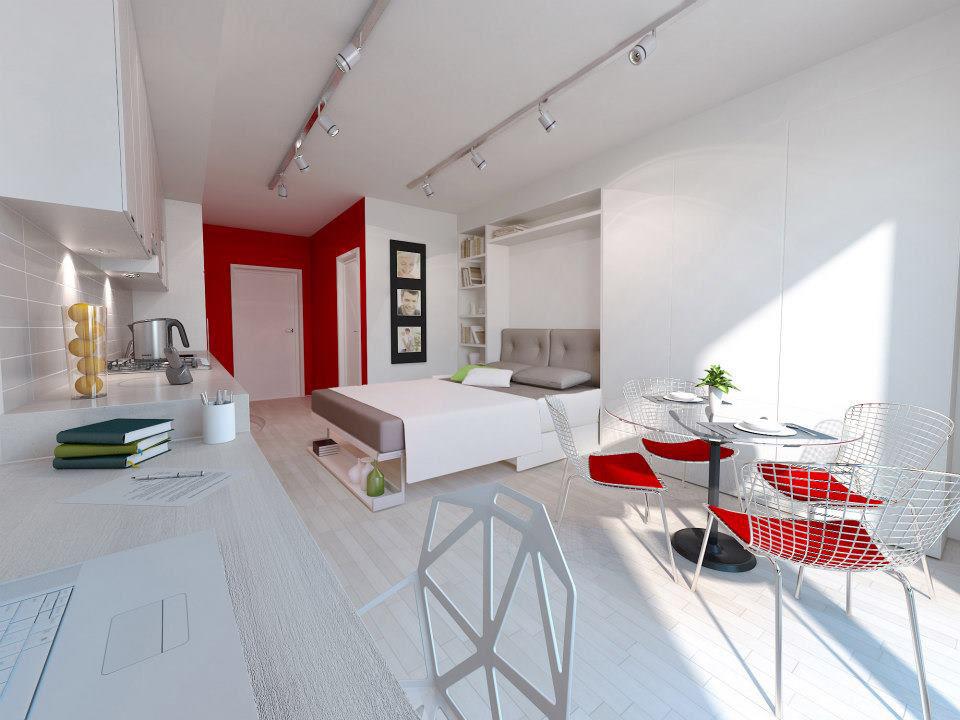 Stylish and functional suburban small condo apartment for Tiny condo decorating